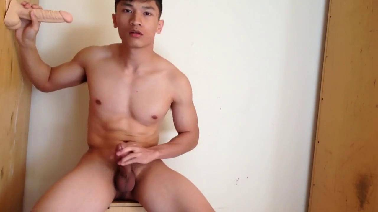 Chinese Maleshow – Athlete Solo Dildo Play